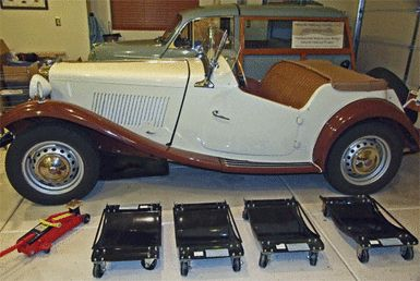 Wheel Dollies for Car Restoration Projects: Wheel Dollies for the MG TC Roadster