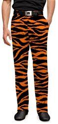 Orange & Black Tiger Stripes Mens Golfing Pants by Loudmouth Golf