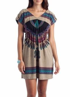 tribal print tunic dress