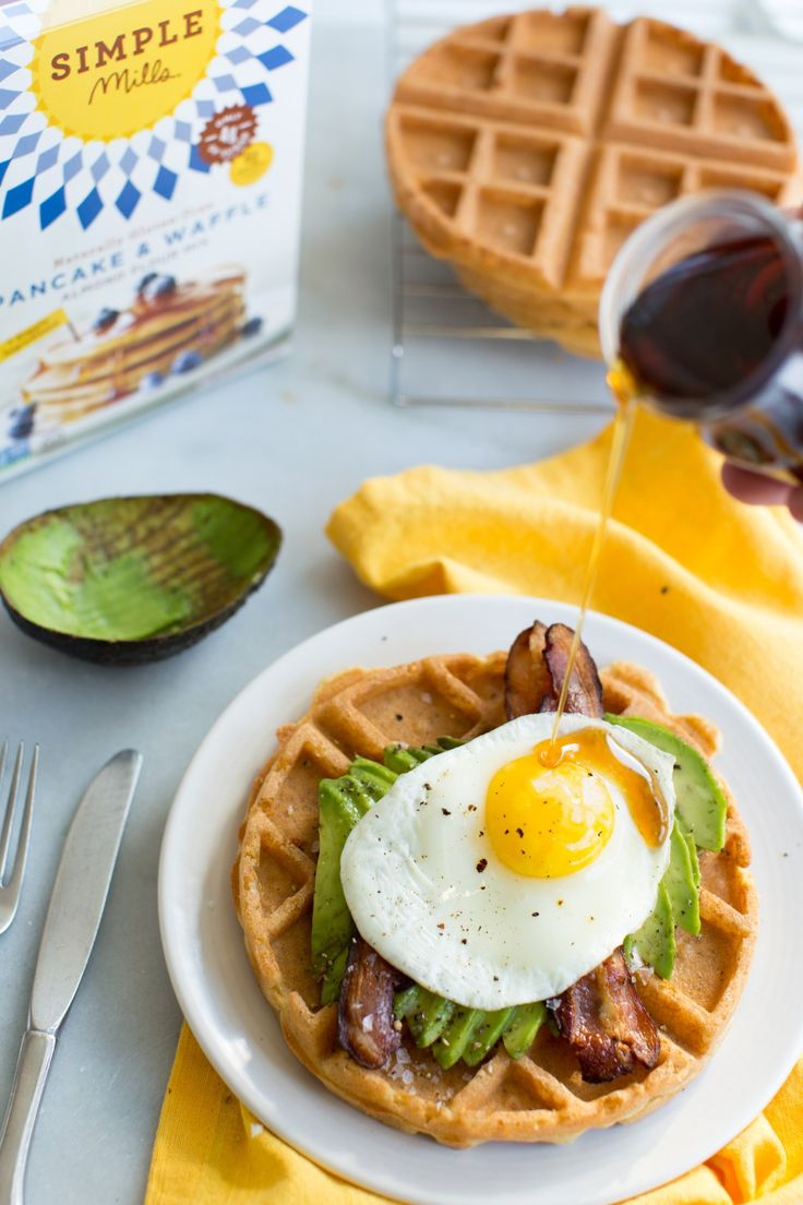 Simple Savory Breakfast Waffles packed with protein, healthy fats and ...