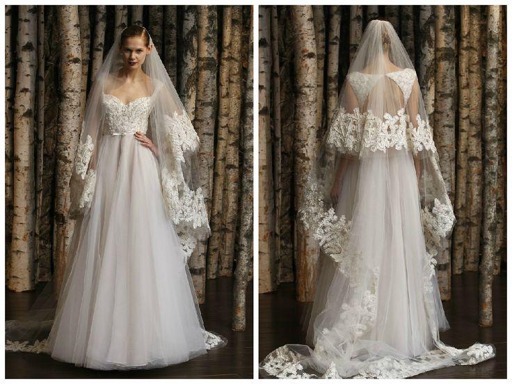 Vestido de noiva bordado - Bridal Naeem Khann 2015  -Os véus de noiva de Naeem…