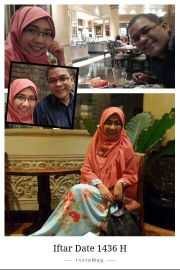 Iftar 2015 The Pavillion Marriott Hotel Surabaya Gamis & Hijab from Yoan Affandy moslem wear. Bag from Longchamp