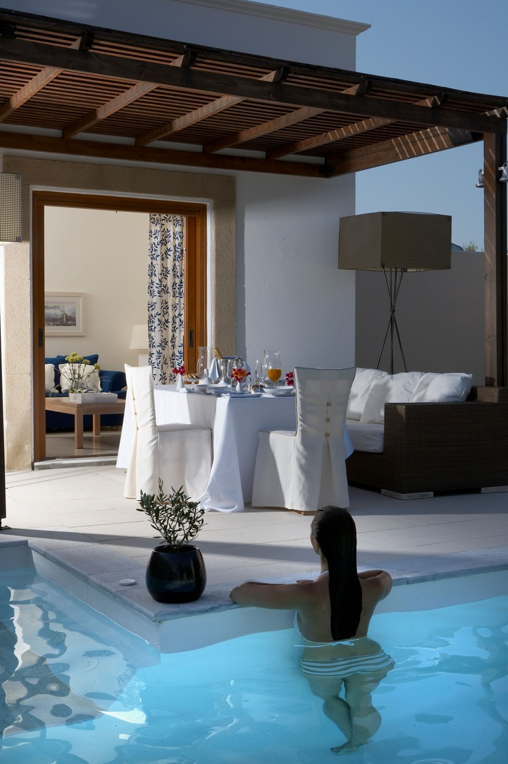 River Passage Pool Suite.  Enjoy a dinner for two in the privace of your own pool villa.