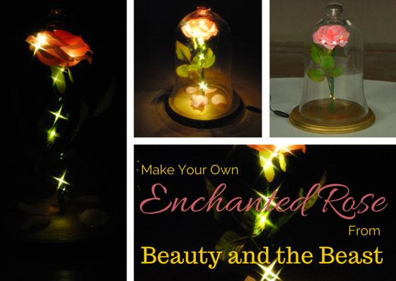 #DIY Enchanted Rose from #BeautyandtheBeast. Learn how to make your own light-up enchanted rose from Beauty and the Beast!