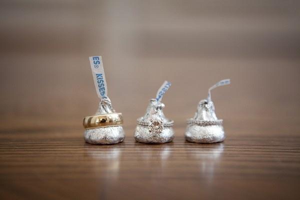 Hersheys Kisses Creative Food Engagement Wedding Ring Ideas