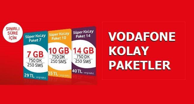 Kolay Paket 7 Gb 10 Gb Ve 14 Gb Internet 750 Dakika 29 Tl Internet