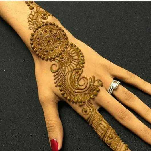 Mehndi For Back Side : Amazing collection of mehandi designs for back side the