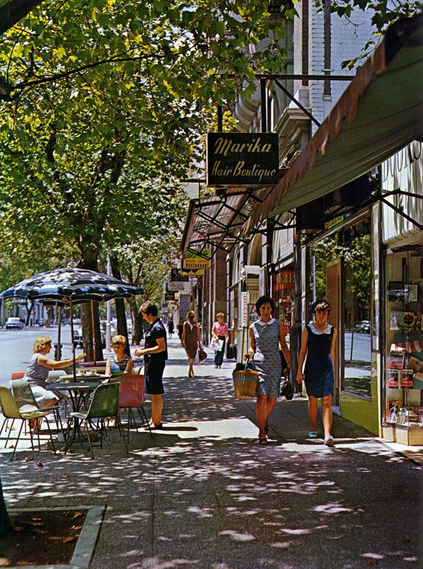 Collins St. City Melbourne c. 1960s (Victoria Australia). This pic was taken just before I arrived in Aussie B.L.
