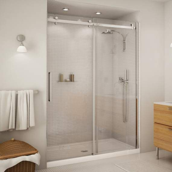 Halo 48 Or 60 2 Panel Frameless Shower Door 4 Ft 675 5 Ft 699 10mm Shower Doors Sliding Shower Door Glass Shower Doors