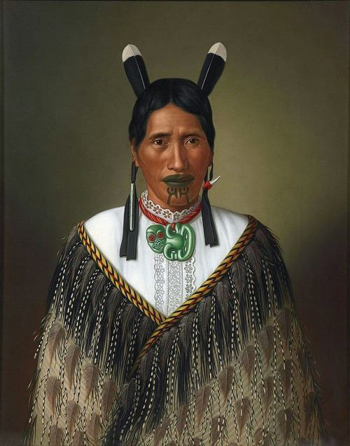 A well respected Maori woman with MANA, from the land of the long white cloud, Aotearoa, New Zealand. Painted by Gottfried Lindauer - 1885