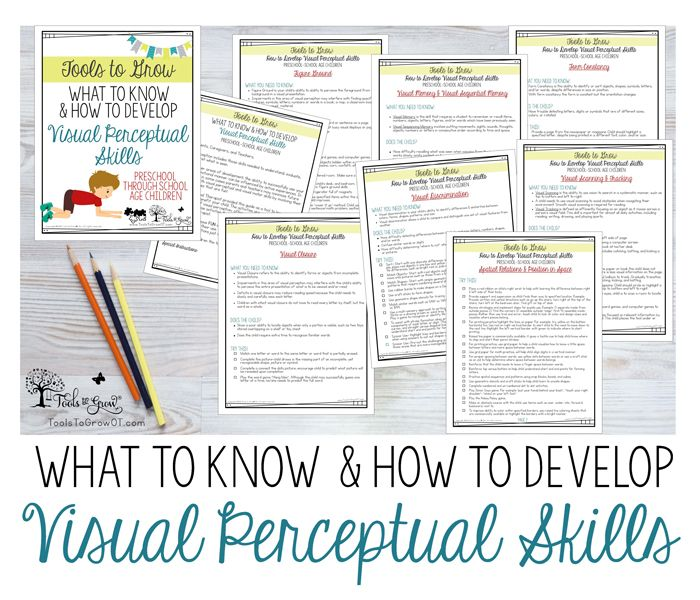 VISUAL PERCEPTION: Possible Impact on a Child's Success at School & Home