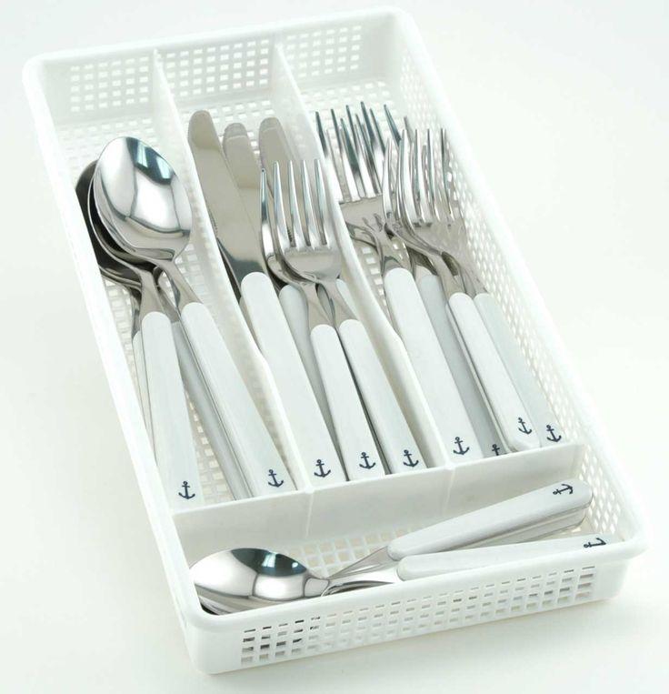 Utensil Anchor Sets in White and Blue: http://www.oceanofferings.com/whanflsefrsh.html: