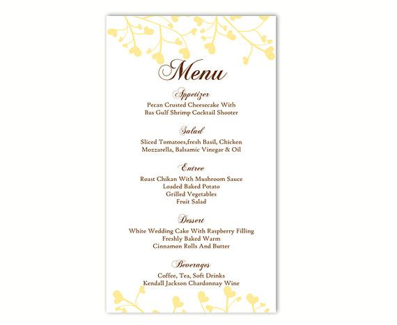 25+ unique DIY menu cards template ideas on Pinterest Meal - dinner party menu template