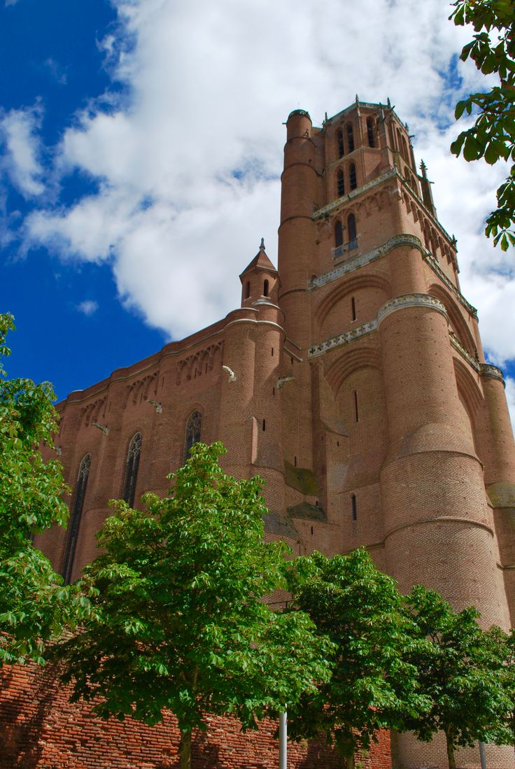 The redbrick Gothic cathedral