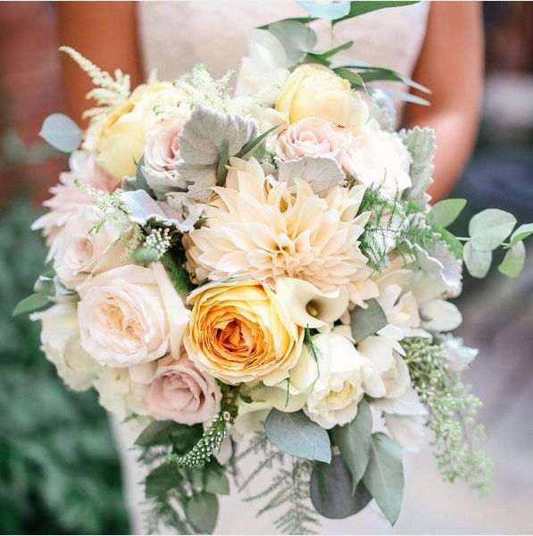 The perfect pastel & succulent bouquet for a summer wedding.