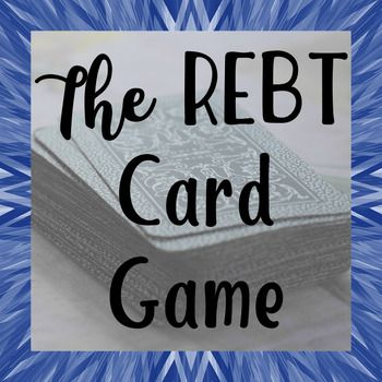 The REBT Card Game is going to be your new favorite intervention! Life happens to all of us....it's how we react that makes the difference! REBT, or Rational Emotive Behavioral Therapy, is one of the most popular (and effective!) counseling theories. Created by Albert Ellis, the basic premise of REBT is that how we react to situations causes better