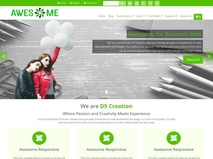 Awesome — Free WordPress Themes