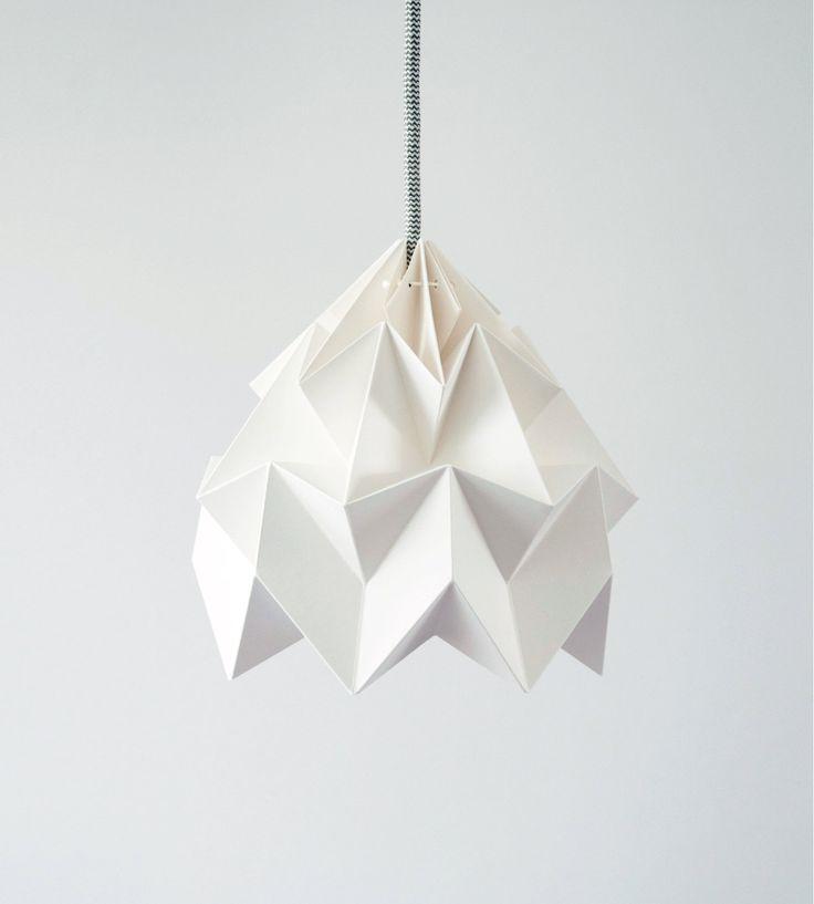 Moth origami lampshade white. €59.00, via Etsy.