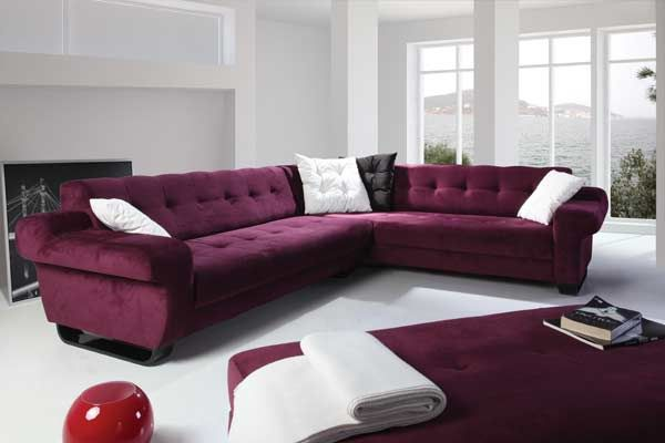 Purple Sectional Sofa