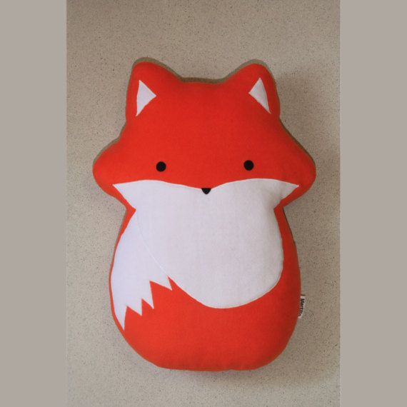 Fox Pillow 23.6 60cm   Plushie  Plush Pillow   Cute by Martilio