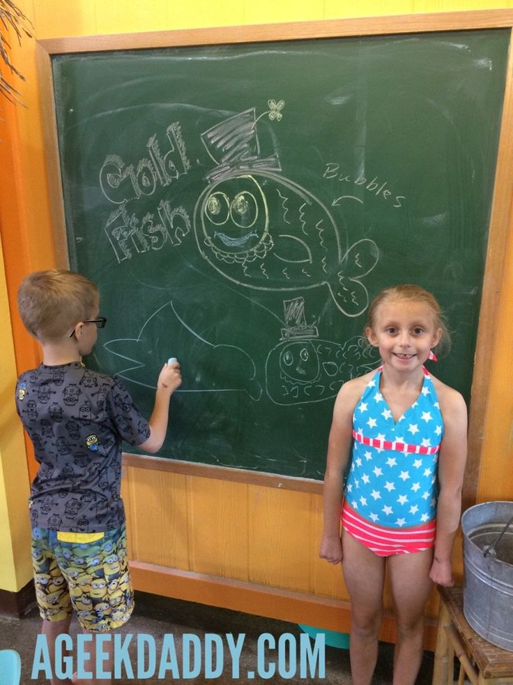 """We always arrive a half hour early to my kids swimming lessons at Goldfish Swim School so they are ready to go and don't miss a minute of class. My kids are never bored showing up early though because there are plenty of fun things to do outside the pool."""