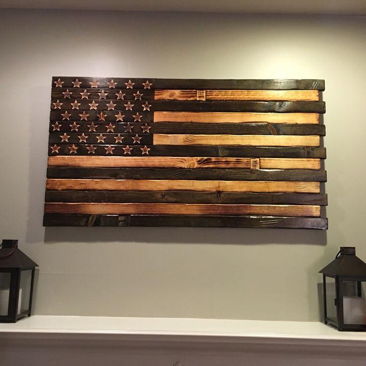 Hand Carved American Flag handcarved rusticflag woodenamericanflag