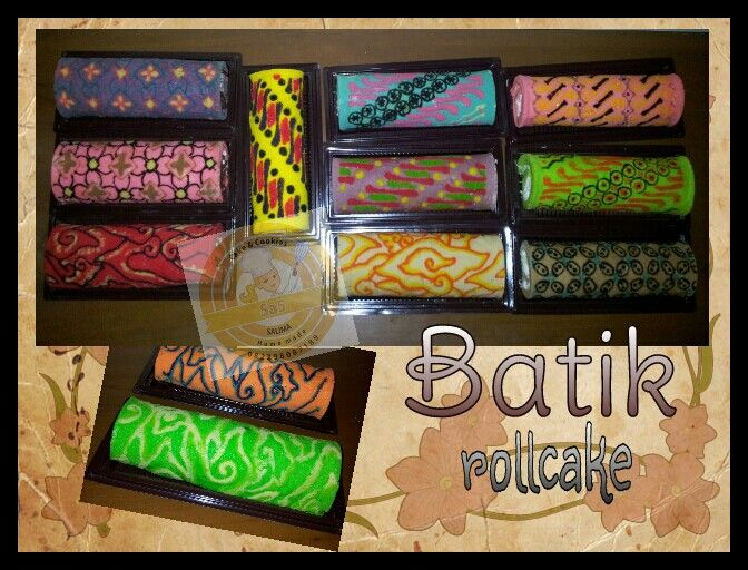 Indonesian BATIK ROLL CAKE. Homemade by Sa5 Cakes & Cookies.