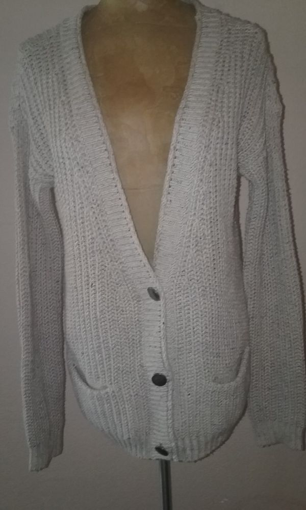 Free People Beach Cotton Blend Cardigan Sweater wPockets