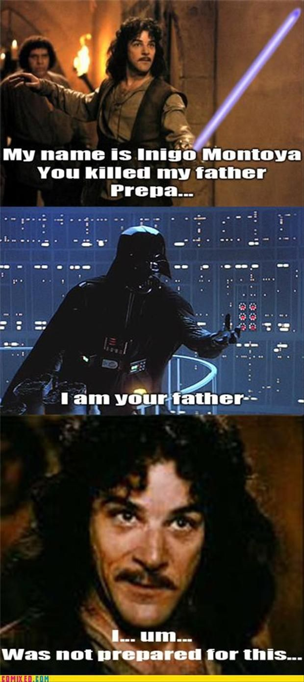Princess Bride, Star Wars crossover. Not a fan of the latter but this was just too funny.