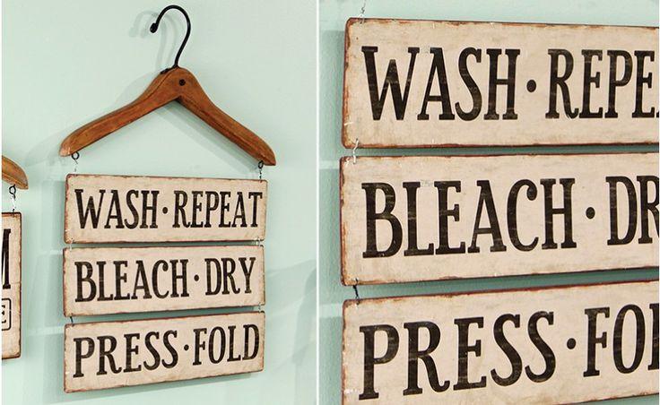 Farmhouse laundry room sign affiliate