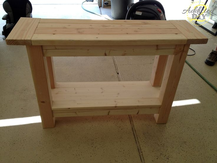 pallet console table instructions