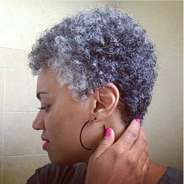Hottest Short Haircuts for Gray Hair for Black American