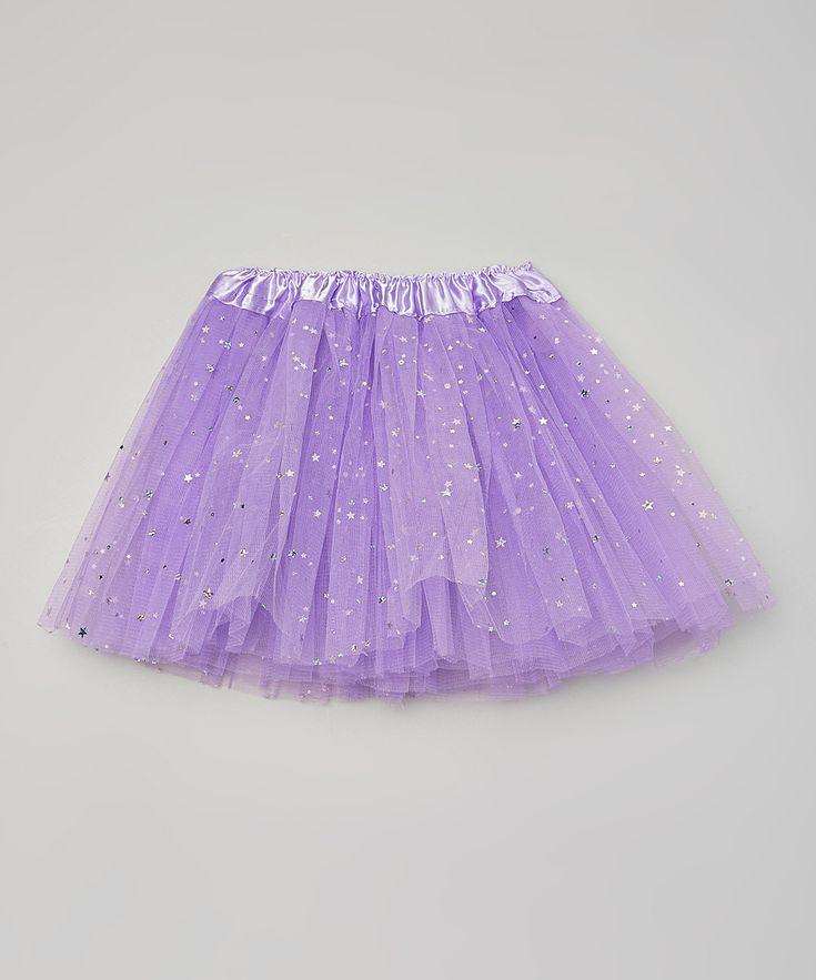 Purple Sparkle Star & Dot Tutu - Girls