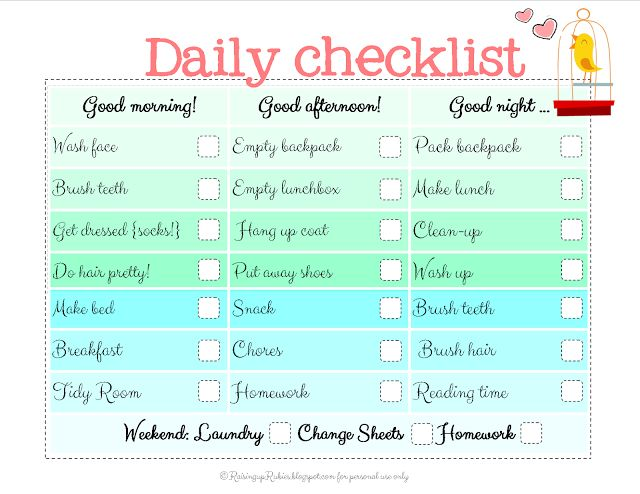 Raising up Rubies: back to school checklist ... free print ♥