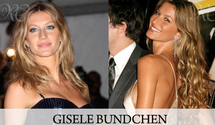 Before and After shot of Gisele Bundchen's Hair Extensions