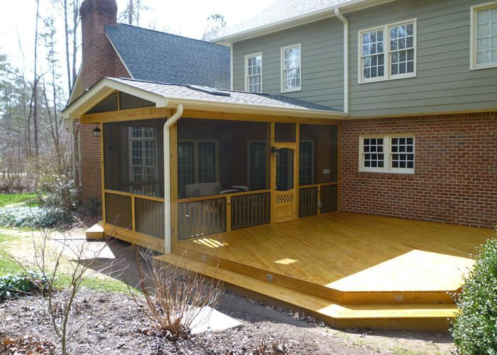Sunroom patio screened in porch deck outdoor living for Sunroom and patio designs