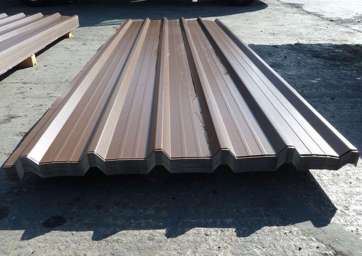 Dark Brown Prisma Finish Box Profile Galvanised Steel Roofing Sheets (INC VAT)