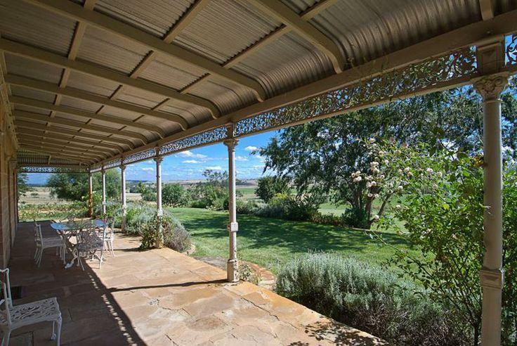 Under the bullnose Victorian verandah. Merriwa, NSW