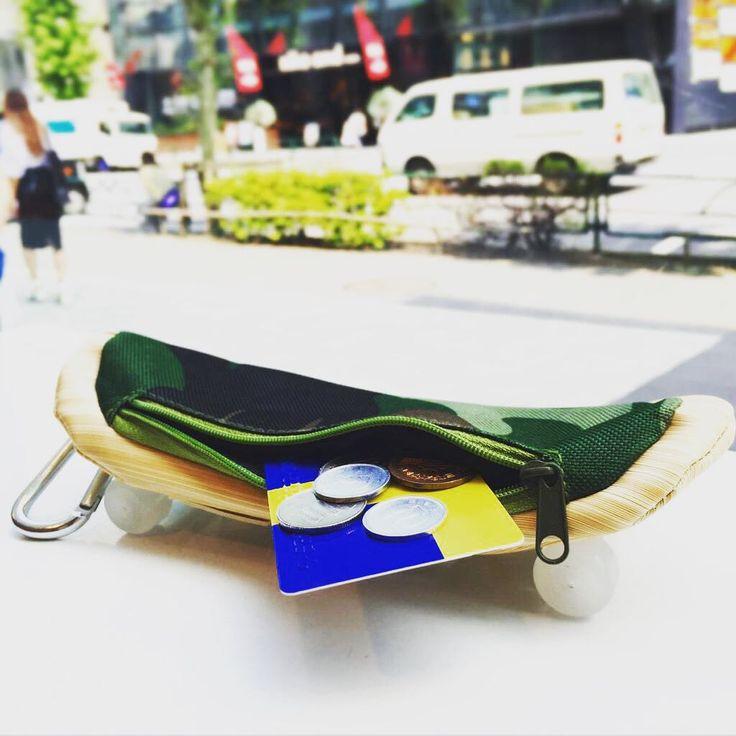 今日はどこへ行こうかな... SKATE PASS & COINCASE ¥400+tax  #ASOKO #street #skate #camouflage #money #coin