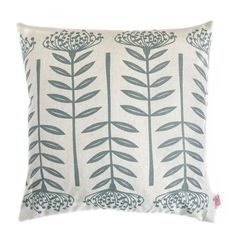 'Tall Protea' cushion cover by Skinny laMinx. All of our cushion covers are screen printed on both sides and close with an invisible zip. All of our products are designed and produced in Cape Town, South Africa.
