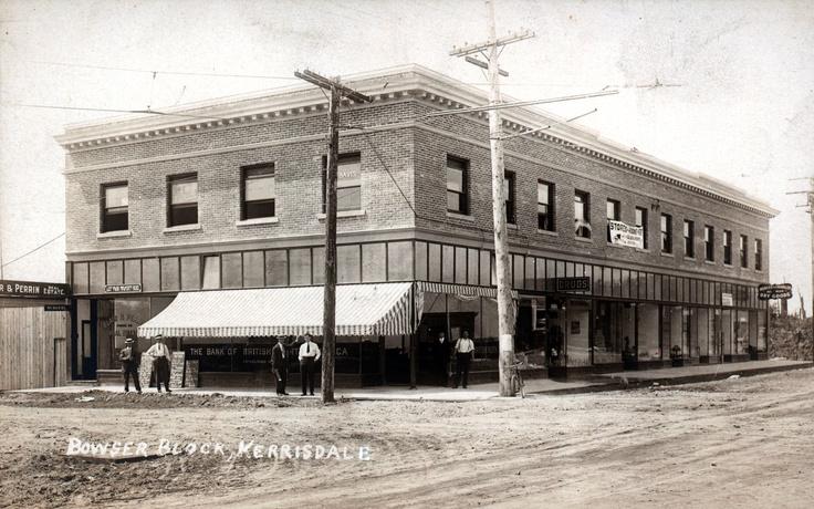 Kerrisdale - 1913  Bowser Block, West 41st and West Boulevard, Kerrisdale  VPL Accession Number: 71339  http://www3.vpl.ca/spe/histphotos/