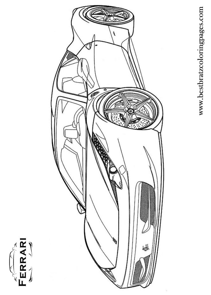 Free Printable Ferrari Coloring Pages For Kids Bratz