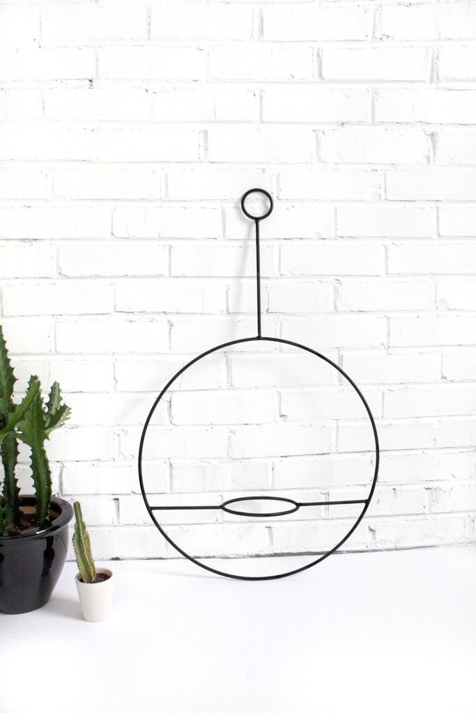 Large Hanging Plant Holder in Black
