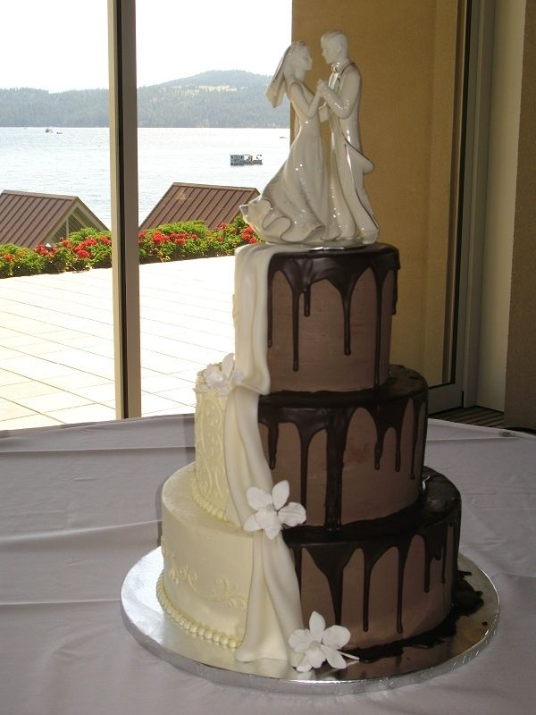 135 best half and half wedding cake s images on Pinterest