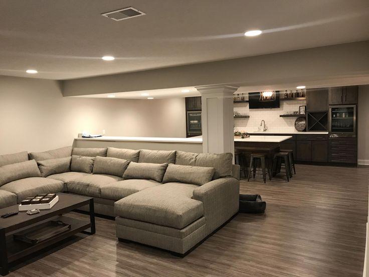 Finished basement mediabar basementremodeling