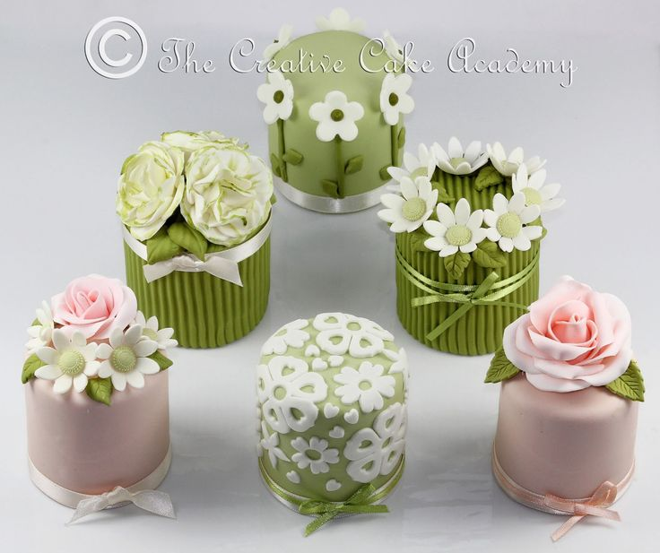 How To Decorate Mini Cakes | THE CREATIVE CAKE ACADEMY - MINI CAKES - THE FLOWER COLLECTION