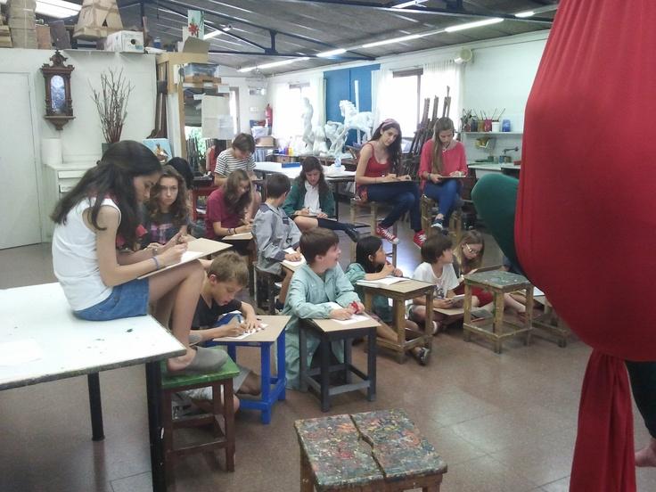 Model al natural, taller mitjans i grans  www.escolatrac.com