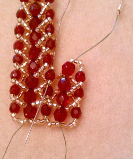 Double Row Flat Spiral Stitch Bracelet Tutorial   MyAmari