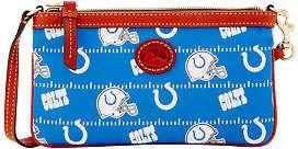 Dooney & Bourke NFL Colts Large Slim Wristlet