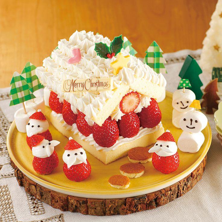 サンタの街のいちごのおうちケーキ | だいどこログ[生協パルシステムのレシピサイト]